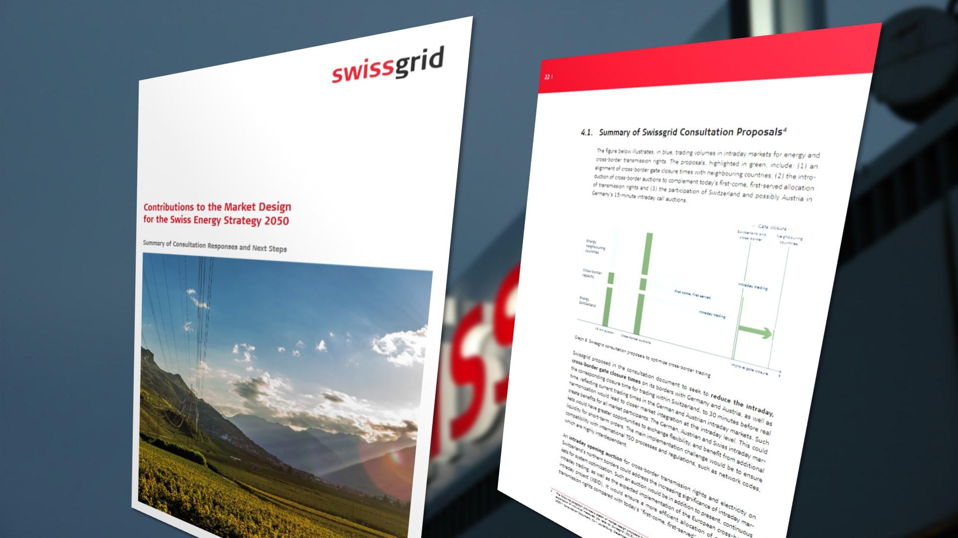 Swissgrid develops new market design