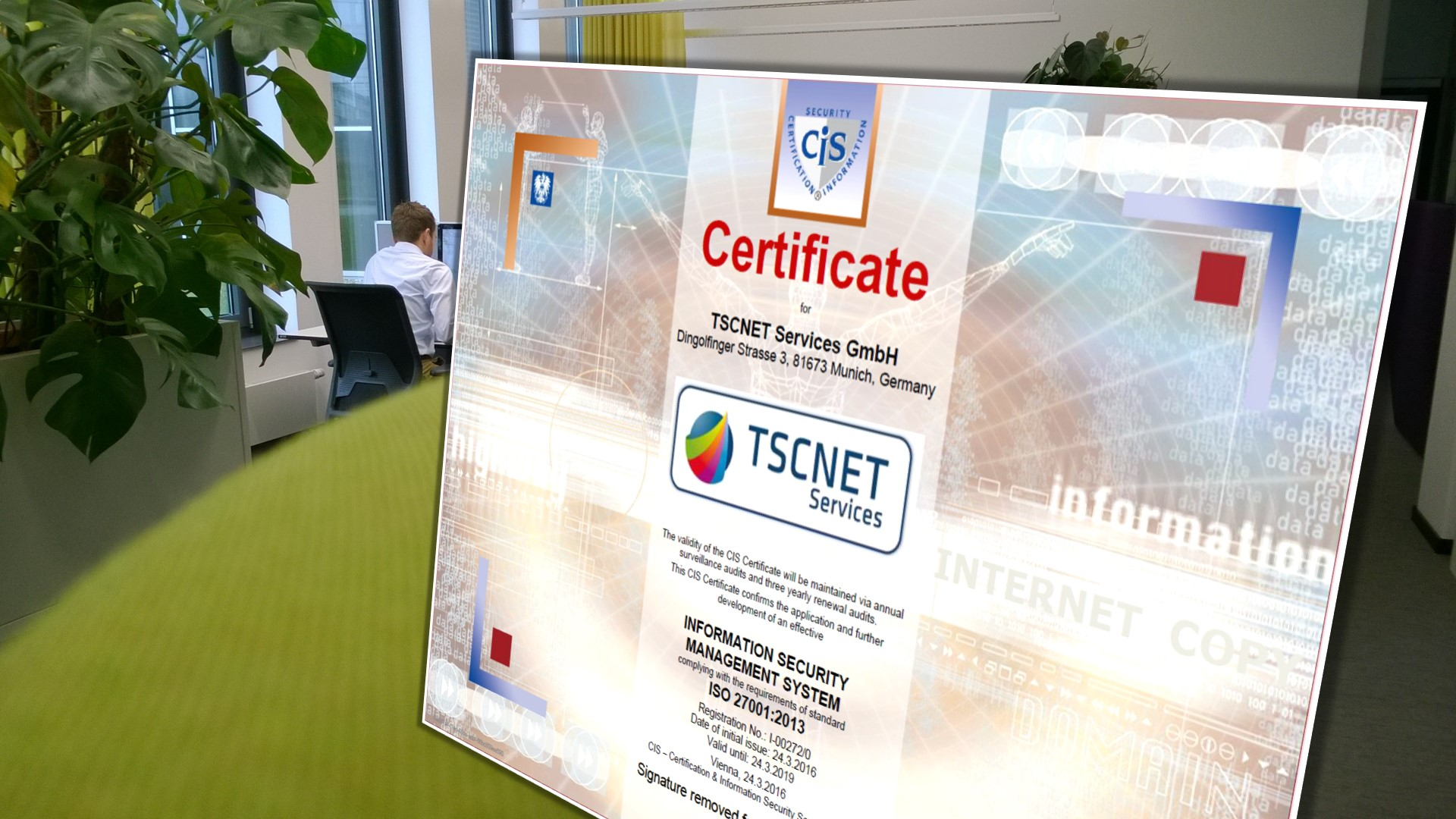 TSCNET receives ISMS certification