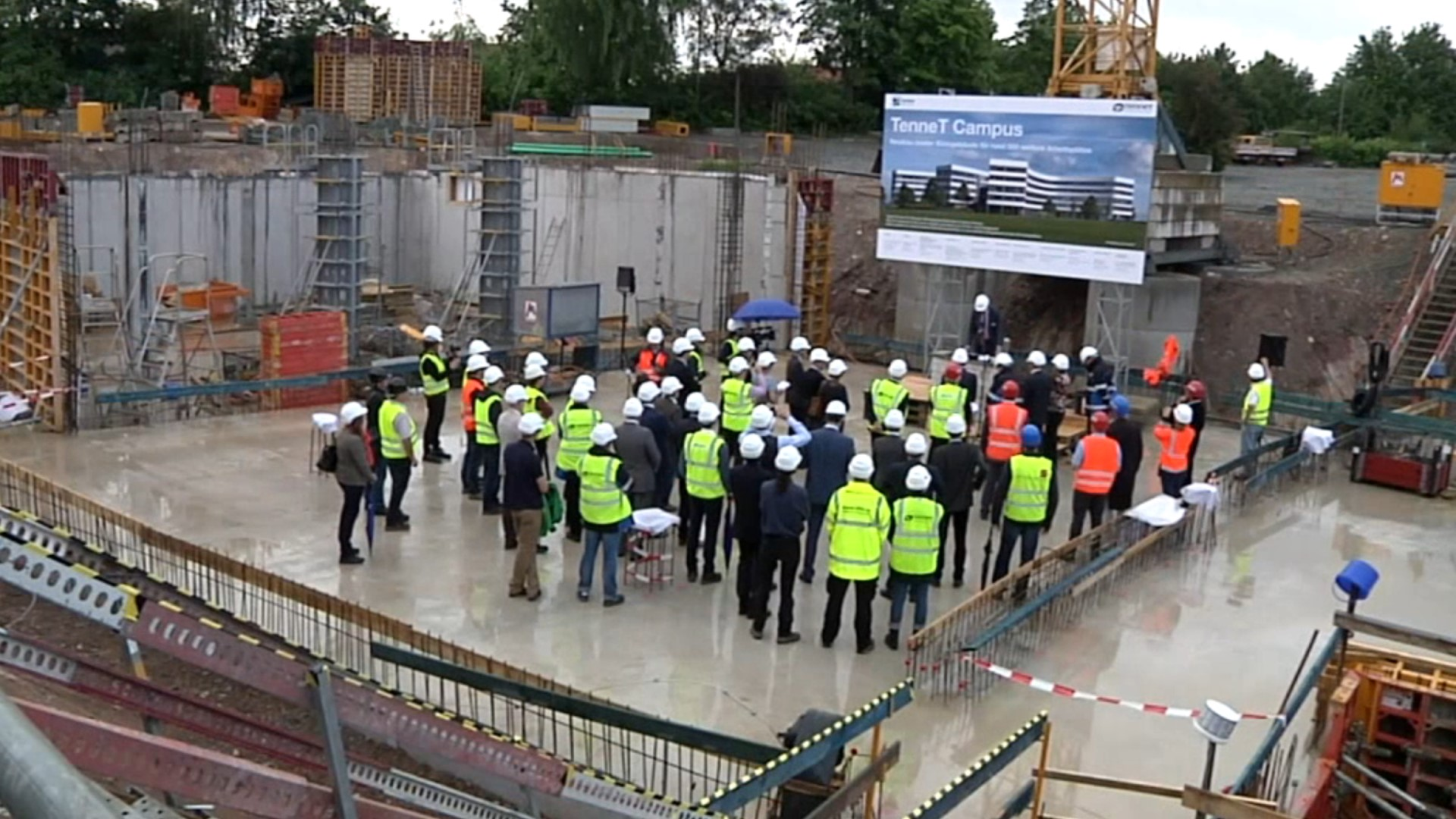 """Cornerstone ceremony for """"TenneT Campus"""""""